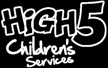 high 5 childrens white logo