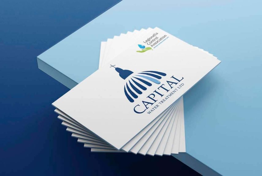 capital water treatment business card design