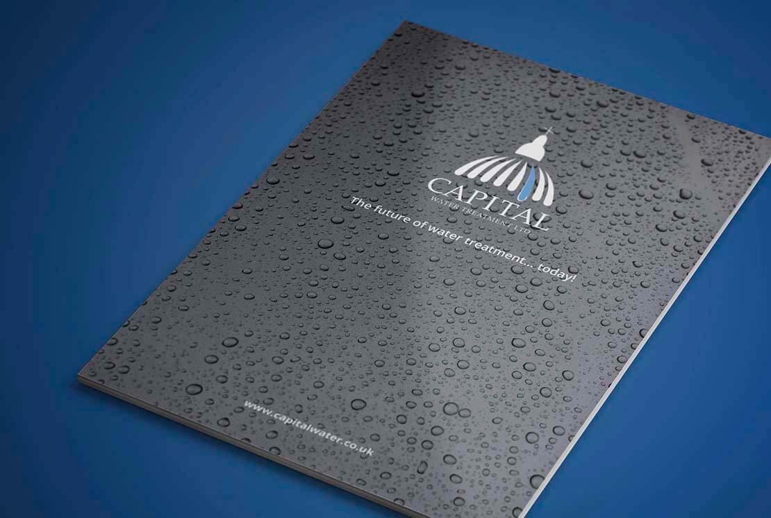 capital water treatment corporate brochure design