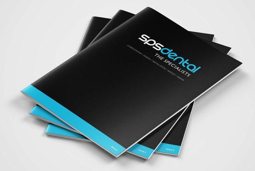 sps dental stack of brochures