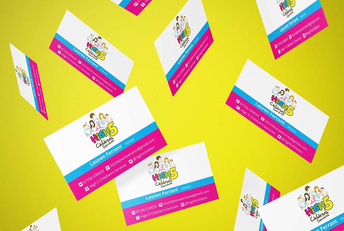 bespoke business cards for high 5 childrens services