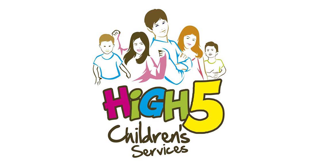 high 5 childrens logo design
