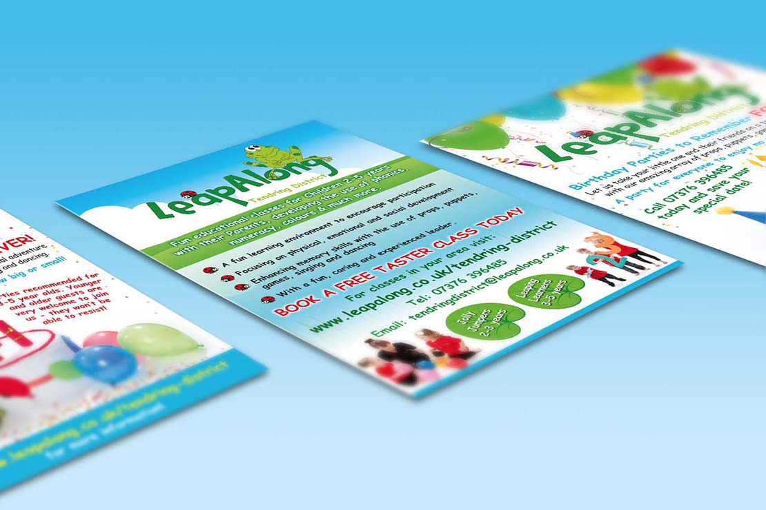 leapalong learning promotional poster designs