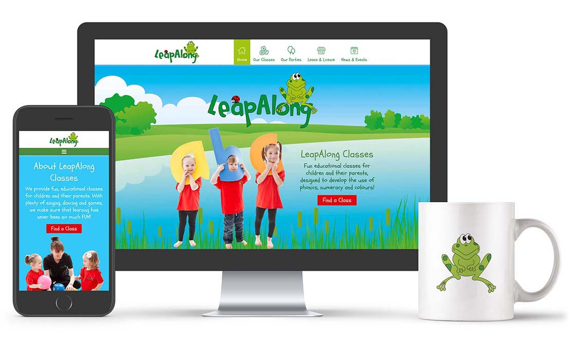 leapalong learning franchise wordpress website