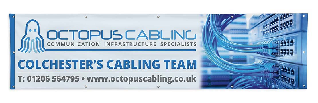 octopus cabling advertising banner