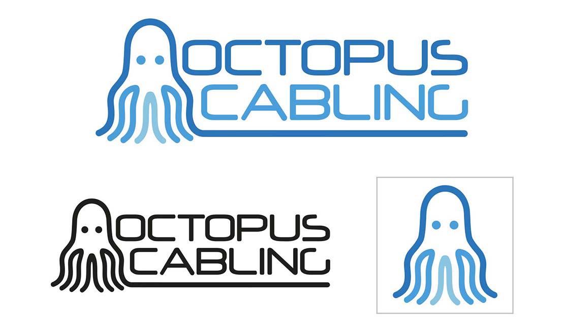 octopus cabling logo designs