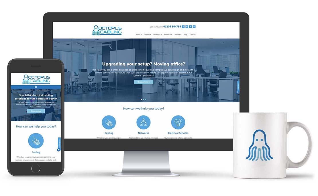 latest octopus cabling wordpress website