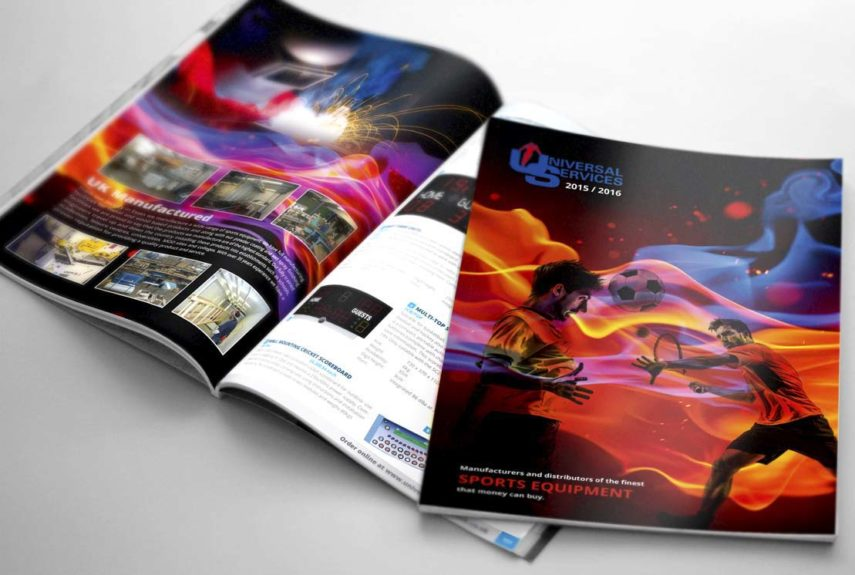 universal services 2015 product catalogue design