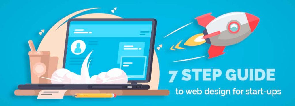 startup rocket and web design