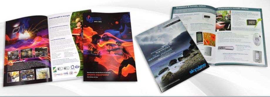 printed brochures and catalogues