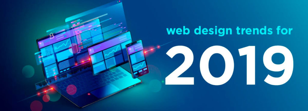 2019 website trends concept