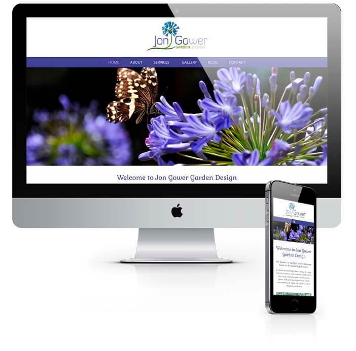 startup website design for jon gower