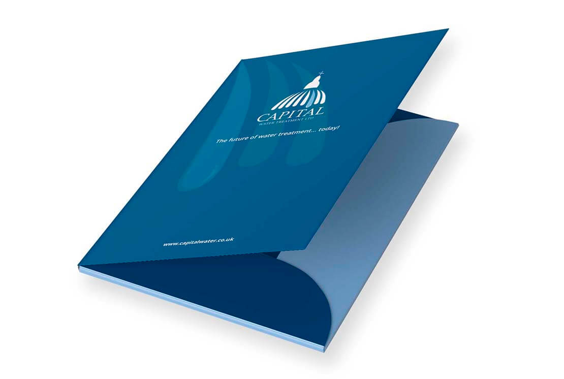 half open brochure design for capital