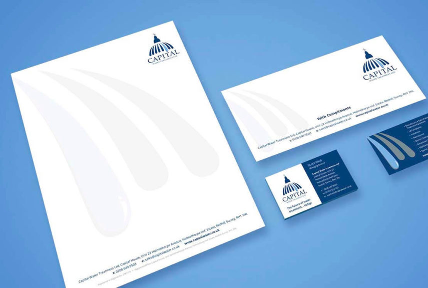 branded up corporate stationery for capital