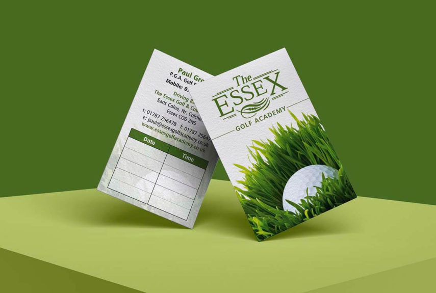 essex golf bespoke business cards