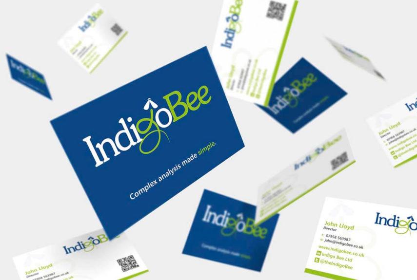 indigo bee business card design examples