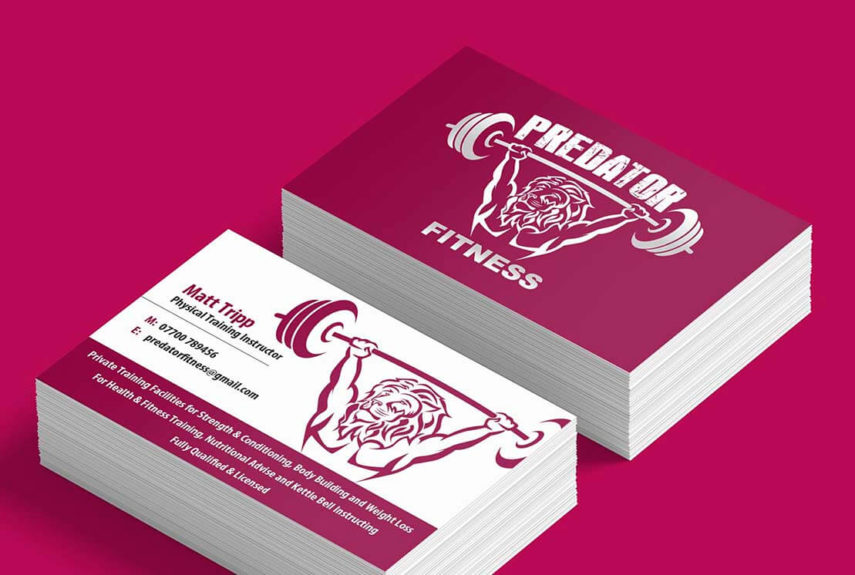 predator fitness business card design