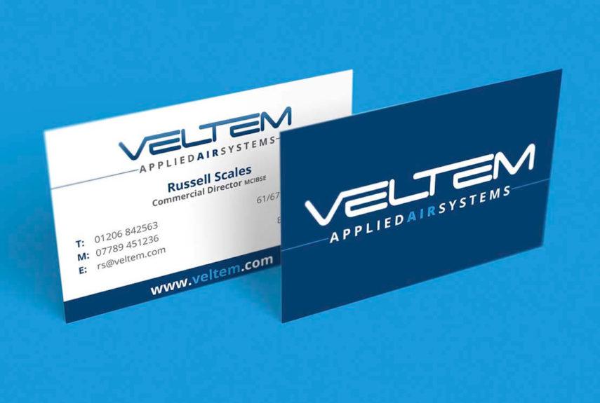 veltem business cards designed for client