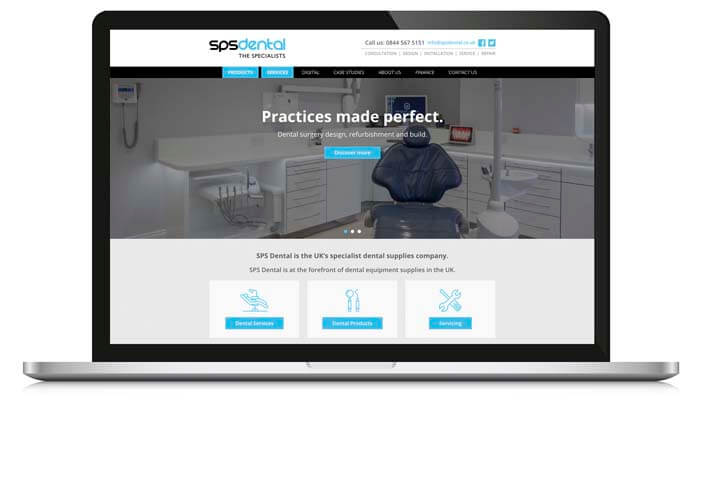 sps dental website example