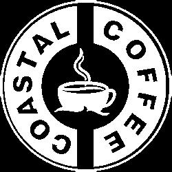 coastal coffee white logo