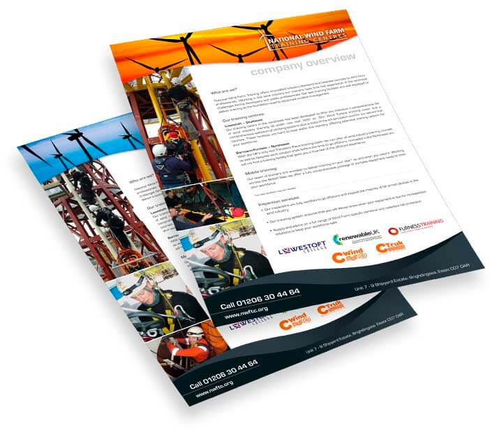 nwftc white labelled brochure design