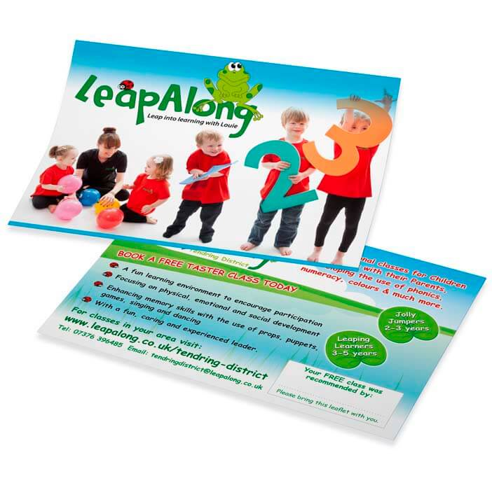 leapalong colourful digital print leaflet