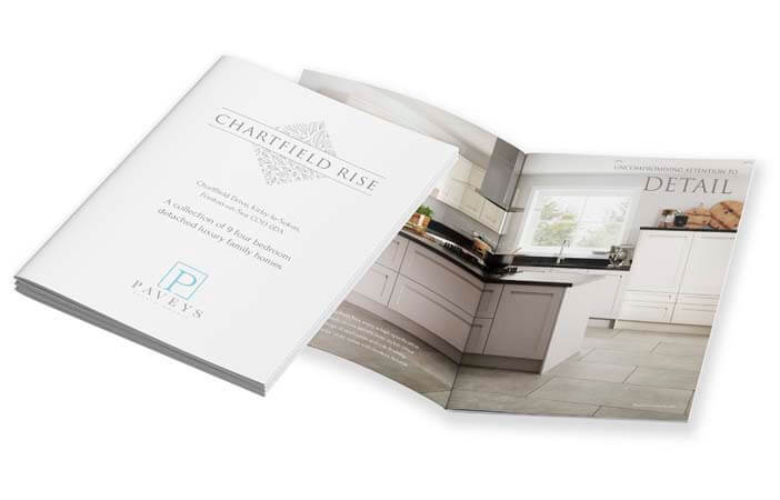 digitally printed brochure for paveys