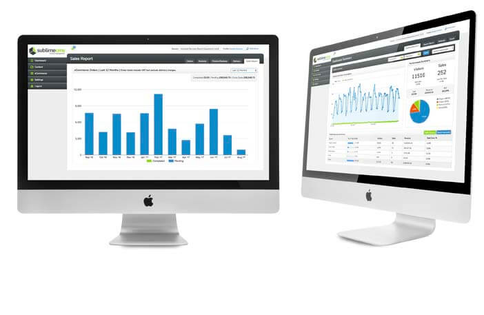 ecommerce analytics viewed on computer screen