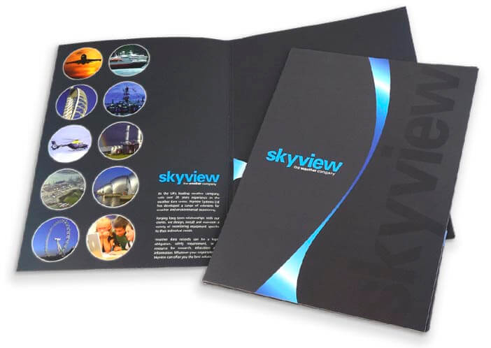 professionally printed folders for skyview