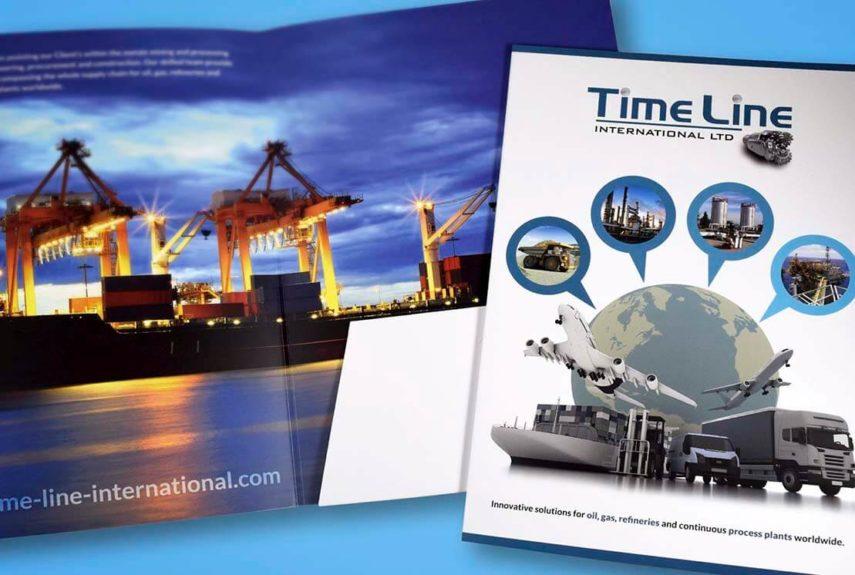 timeline blue folder design