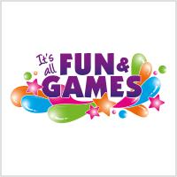 fun and games colourful logo design