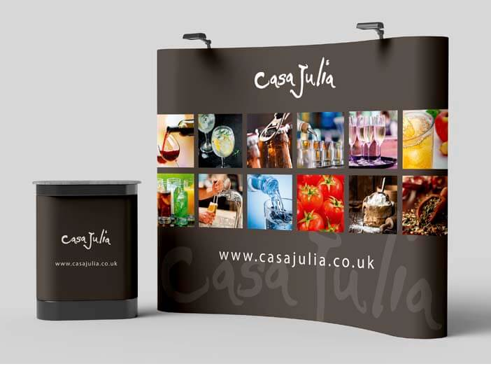 large format printed exhibition stand