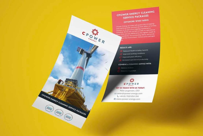 digitally printed leaflets for CPower