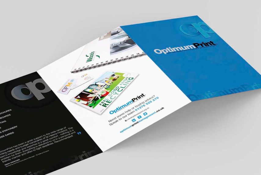 optimum print leaflet designs
