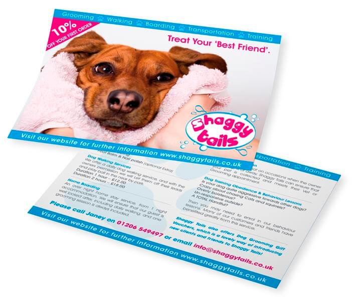 shaggy tails leaflet designs