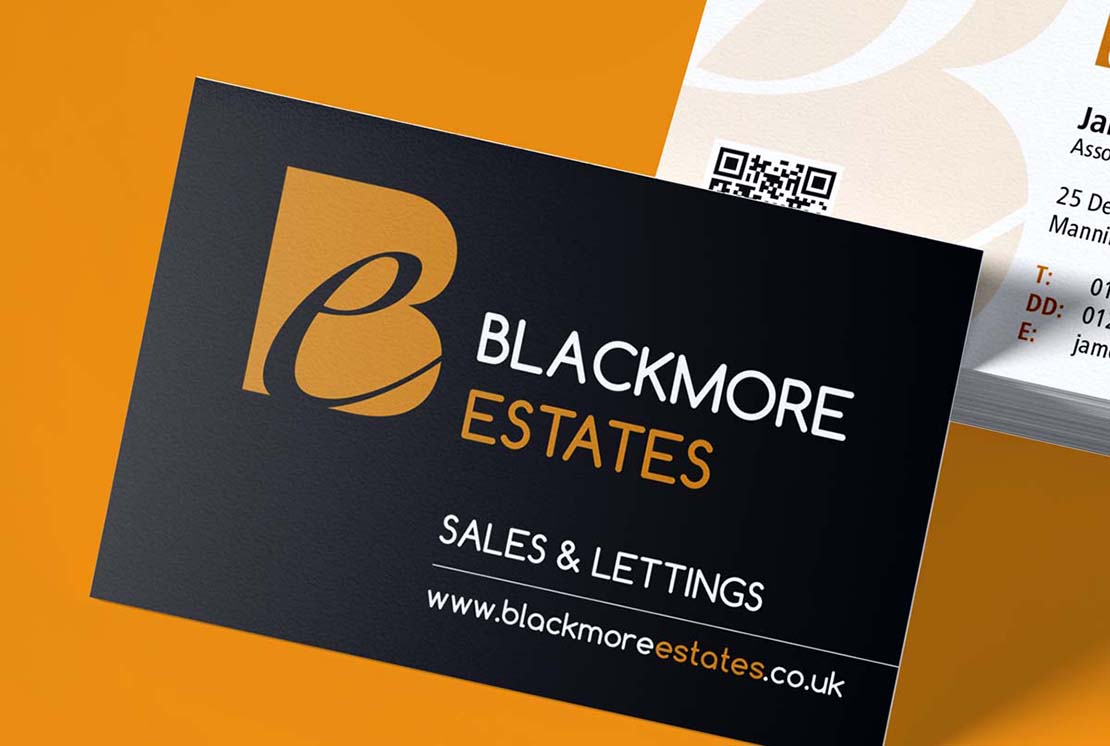 blackmore custom logo design on business cards