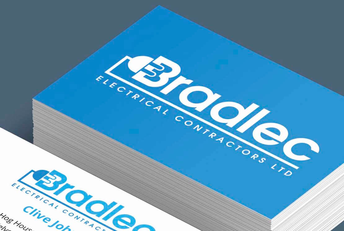 bradlec custom logo design on business cards