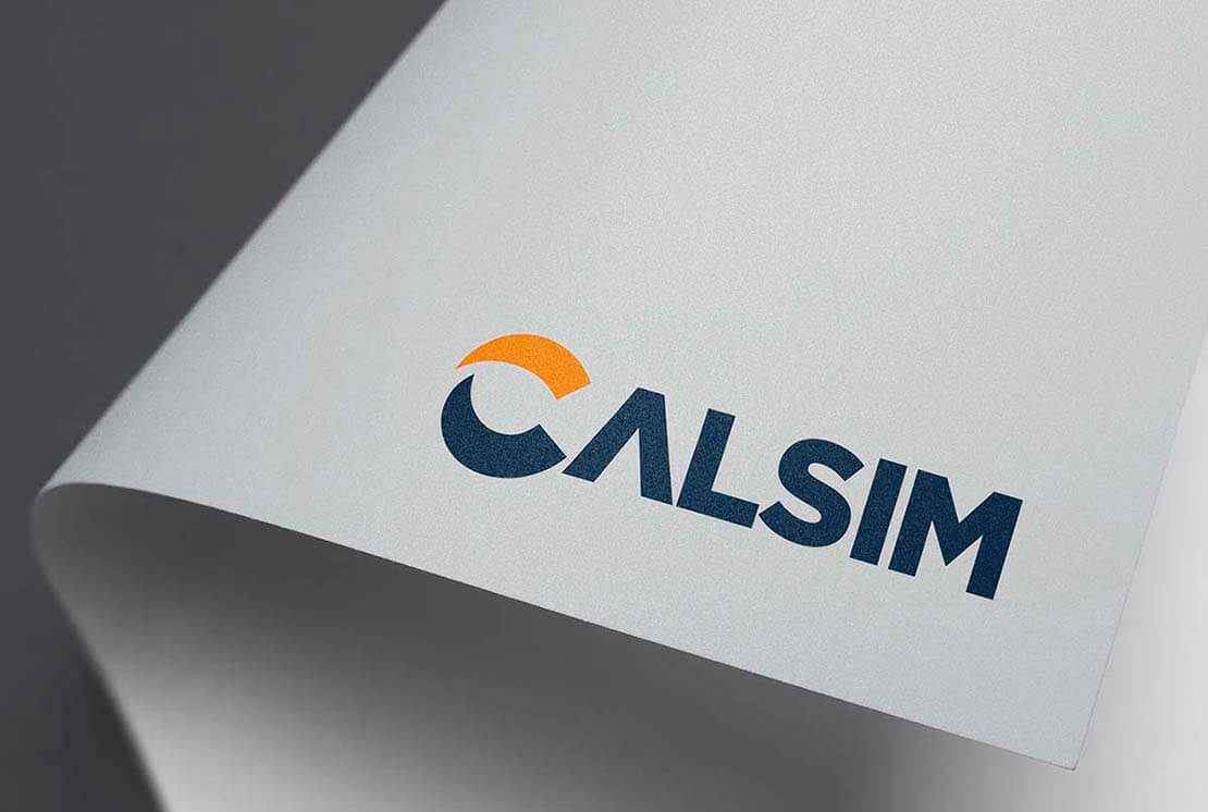 close up of calsim logo on letterhead