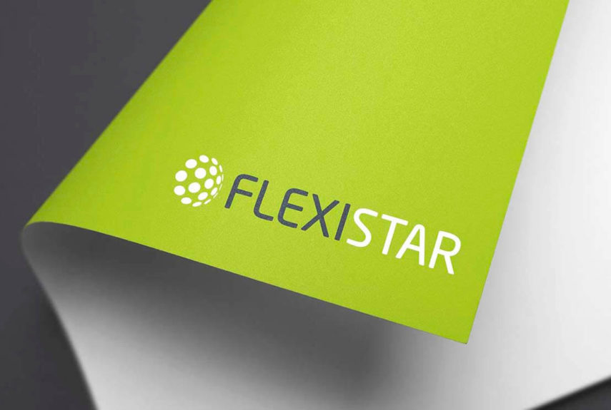 close up of flexistar logo on letterhead