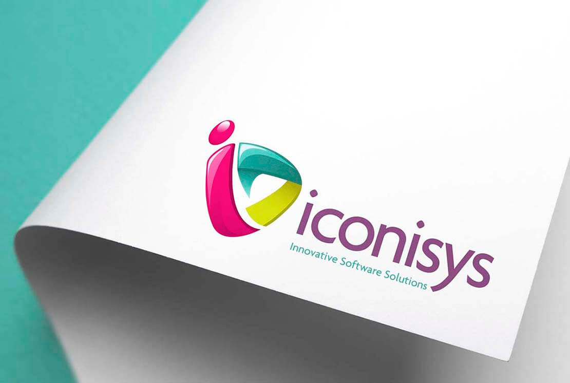 close up of iconisys logo on letterhead