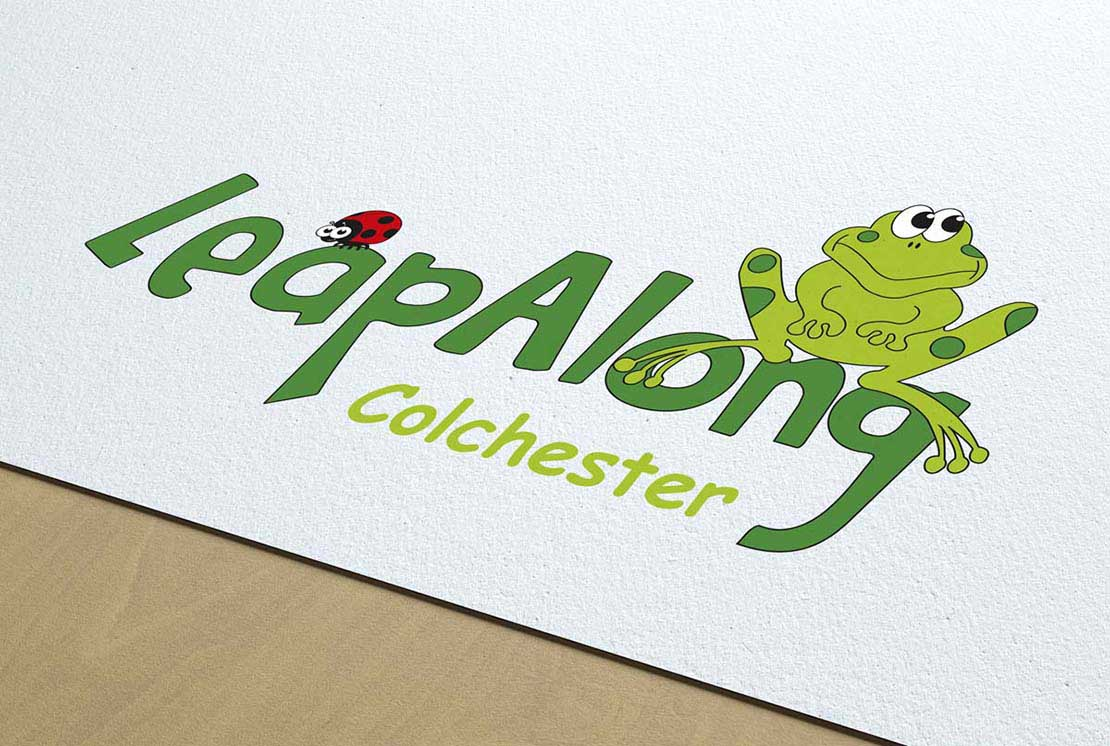 close up of leapalong logo on letterhead