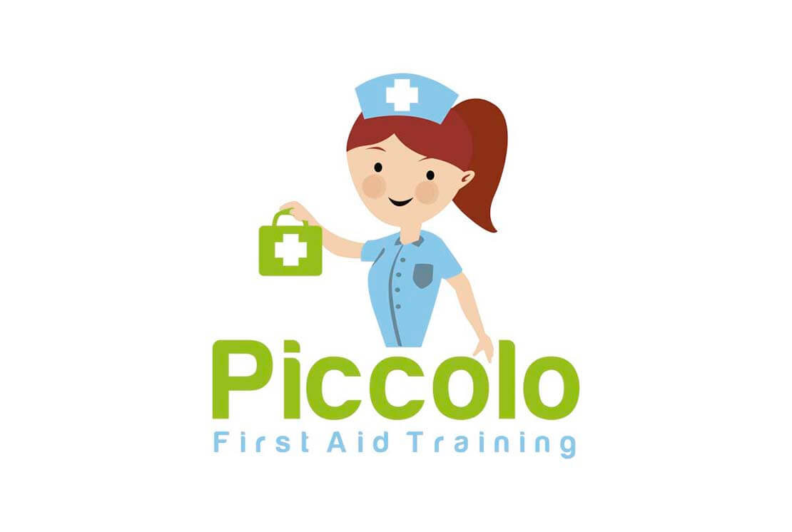 ful illustration logo of nurse for piccolo