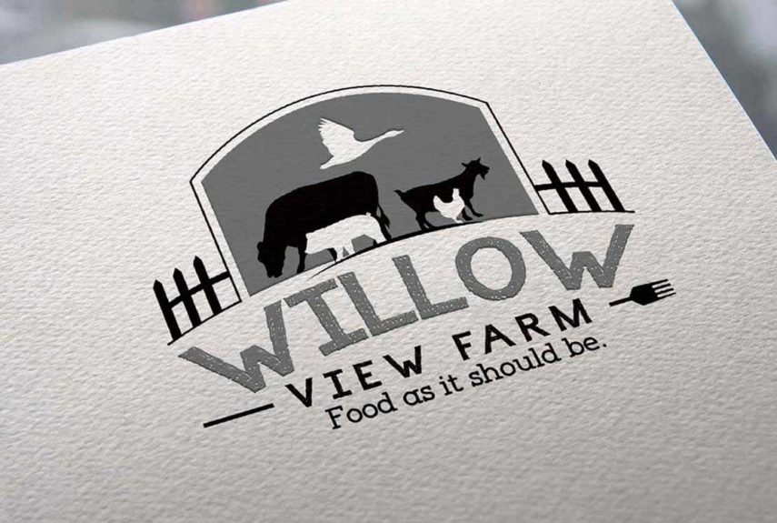 logo and slogan for willow view farm