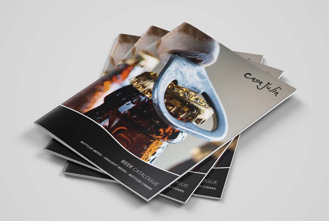 casa julia printed beer catalogue