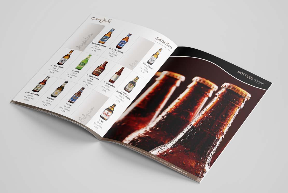 casa julia beer catalogue opened
