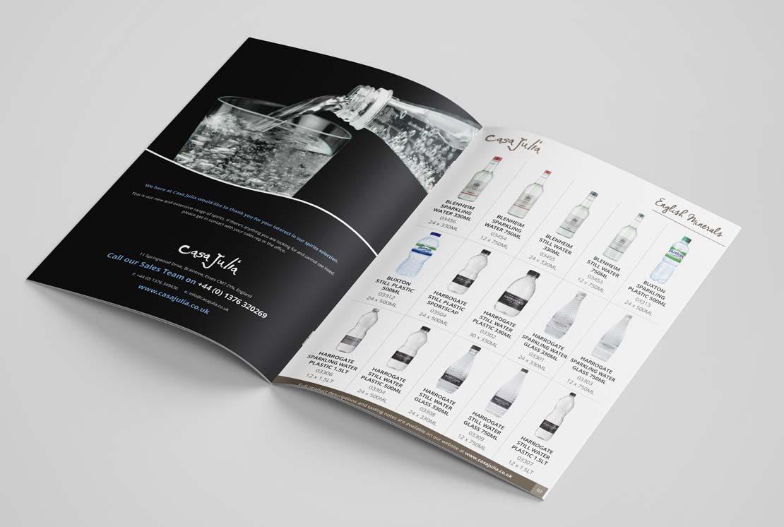 casa julia water catalogue opened