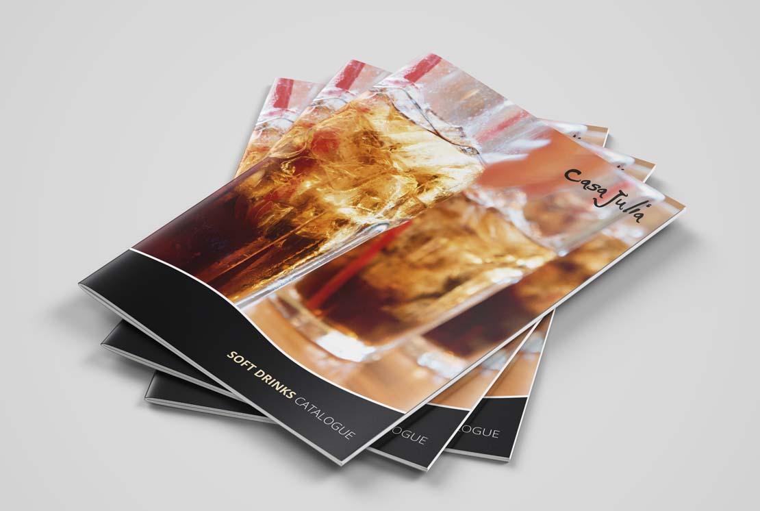 casa julia printed soft drinks catalogue