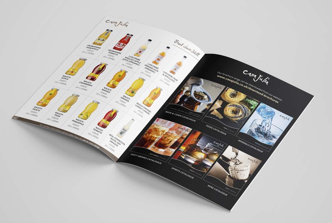 casa julia soft drinks catalogue opened