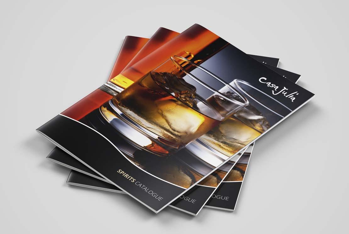 casa julia printed spirits catalogue