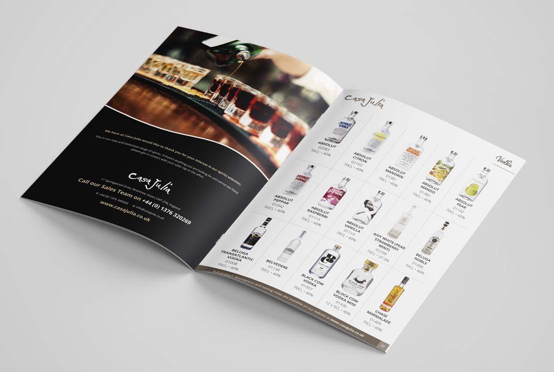casa julia spirits catalogue opened